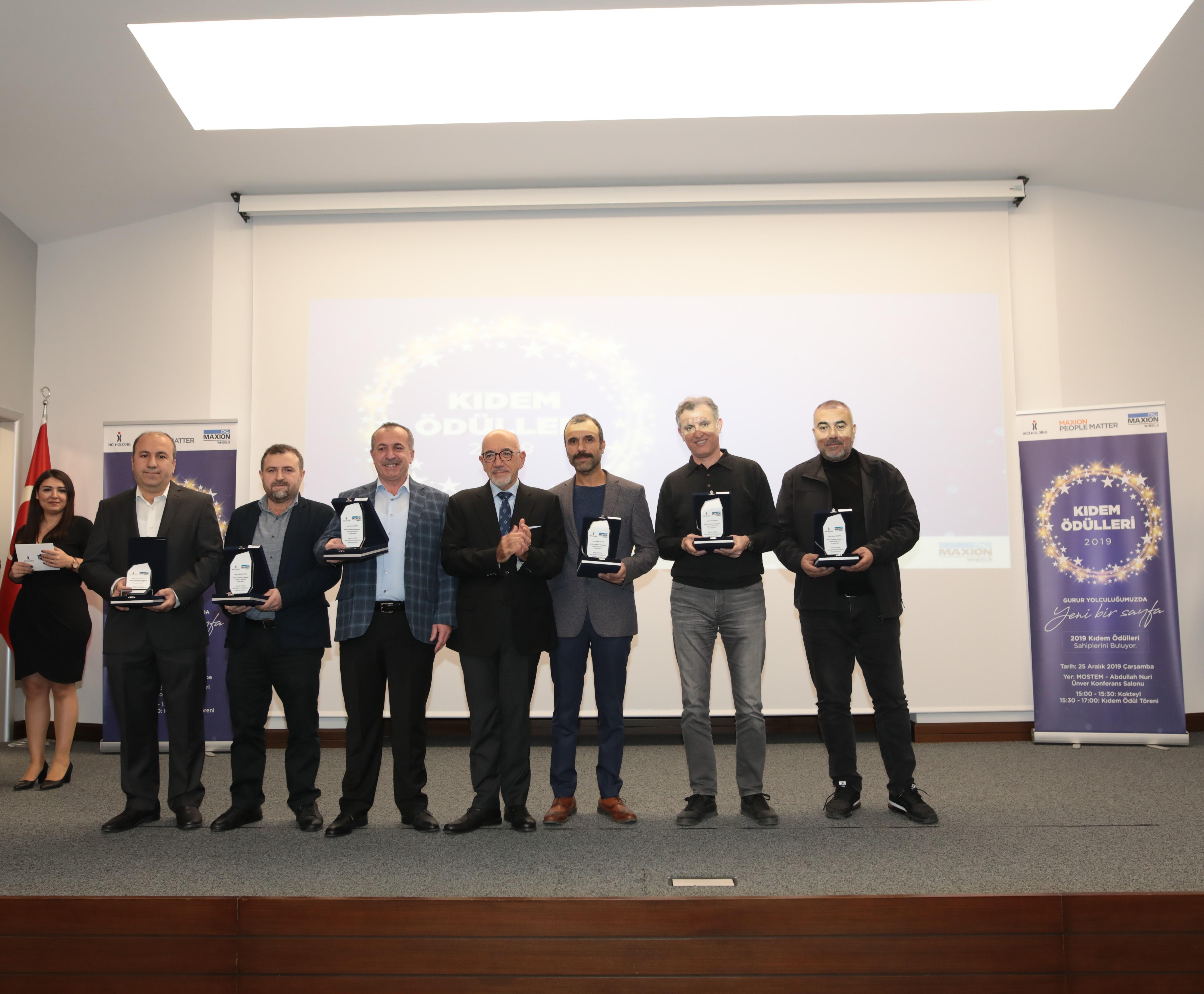 """Maxion İnci Jant Grubu'ndan çalışanlarına """"kıdem"""" ödülü"""