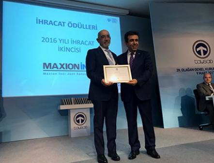 Maxion İnci Jant'a TAYSAD İhracat Ödülü